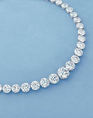 Diamond Necklace in White Gold