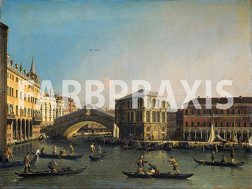 Canaletto | Grand Canal With The Rialto Brigde | 1750