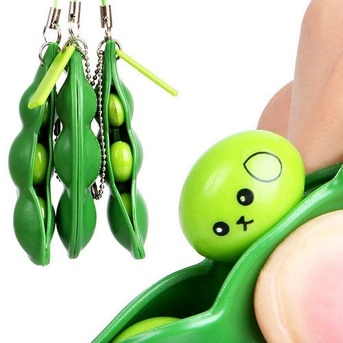 Squishy Bean Key Chain Pendant