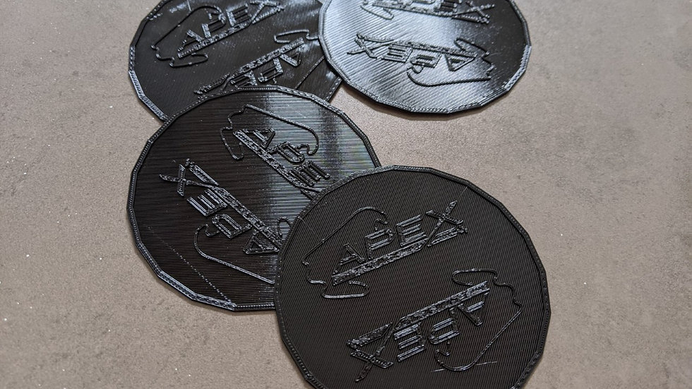 Six coasters (dia 75mm) of the track of your choice
