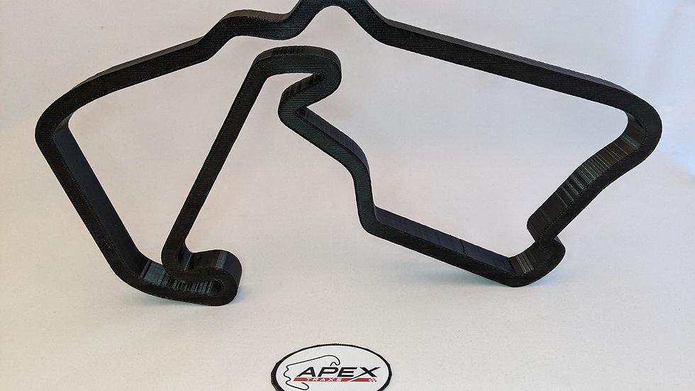 Silverstone wall art race track racing circuit layout sculpture desk table motorsport motor wallart circuitart tra