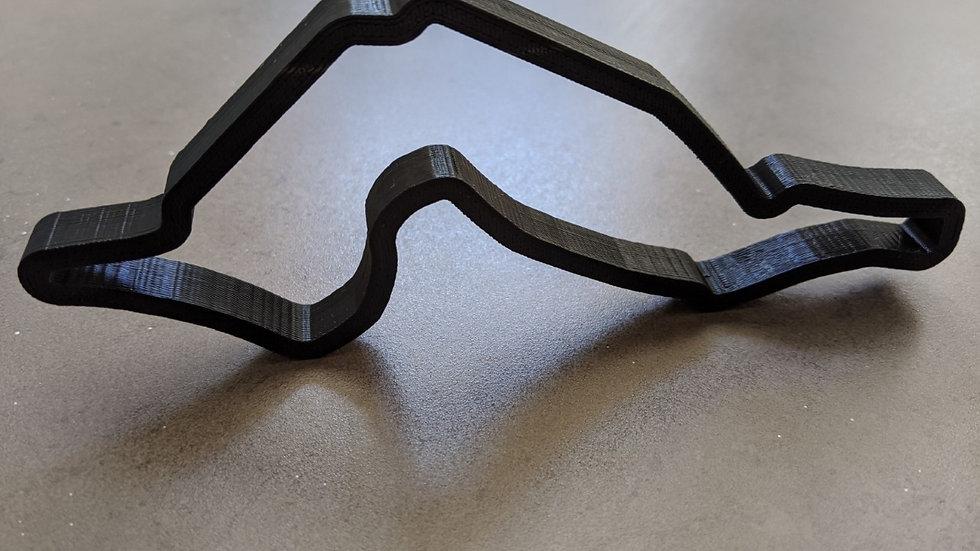 Imola ITALY wall art race track racing circuit layout sculpture desk table motorsport motor wallart circuitart trackart motor