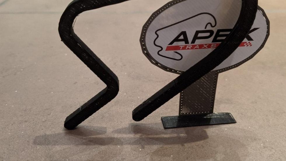 Aintree UK wall art race track racing circuit layout sculpture desk table motorsport motor wallart circuitart trackart motors