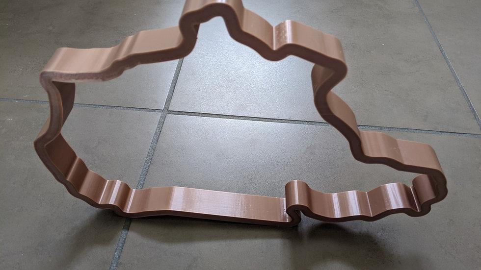 Nurburgring Nordschleife North Loop GERMANY wall art race track racing circuit layout sculpture desk table motorsport motor w