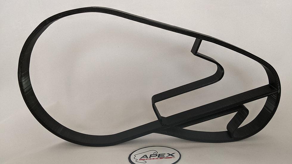 Brooklands wall art race track racing circuit layout sculpture desk table motorsport motor wallart circuitar