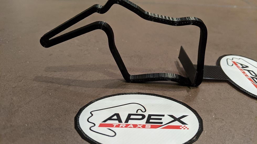 Oulton Park Island UK wall art race track racing circuit layout sculpture desk table motorsport motor wallart circuitart trac
