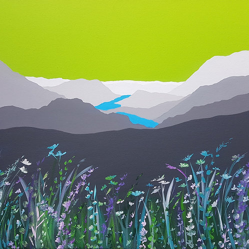 Buttermere Valley greeting card