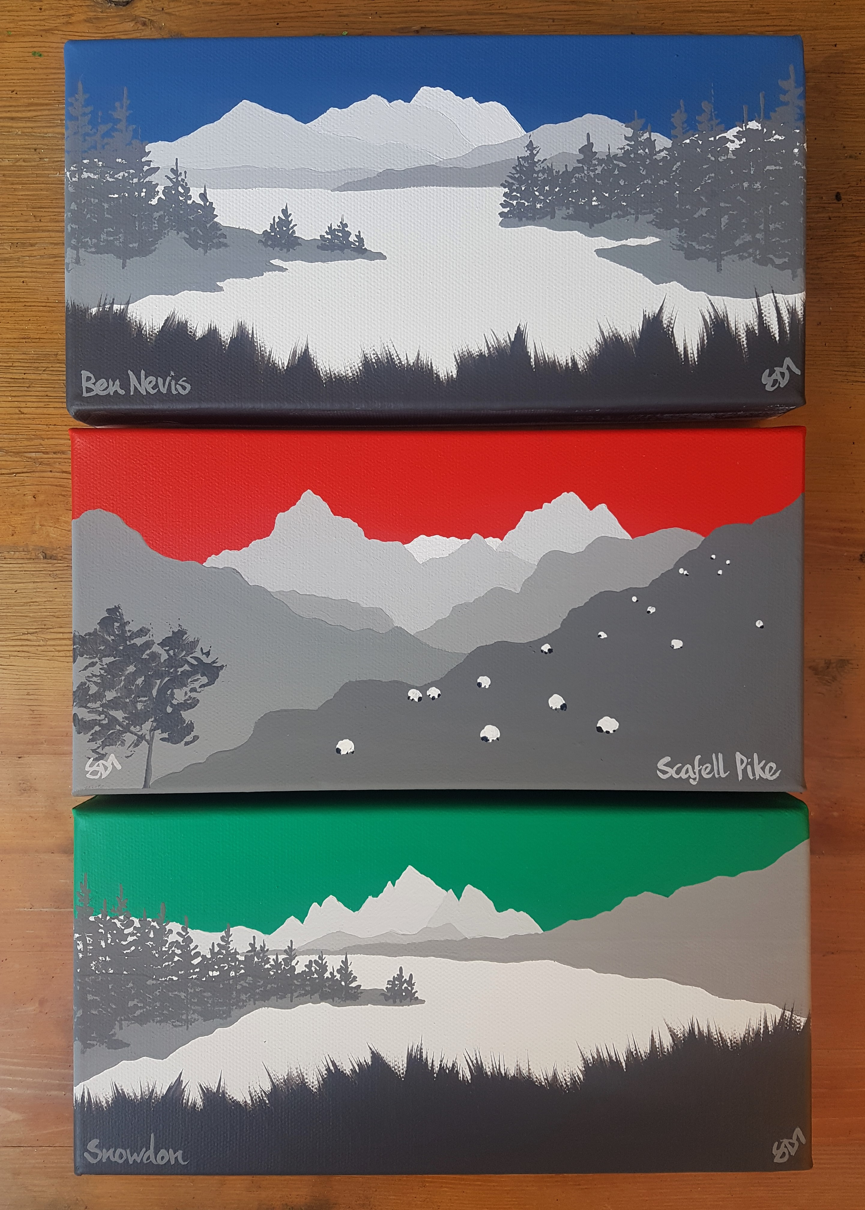 SOLD 3 Peaks set
