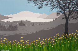 SOLD Daffodils in Grasmere