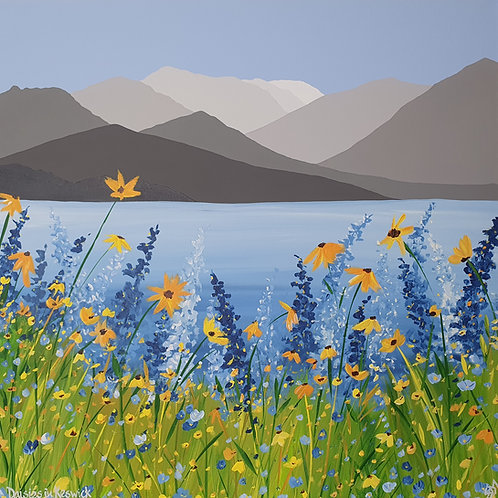 Daisies in Keswick greeting card