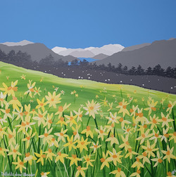 SOLD Daffodils above Ullswater