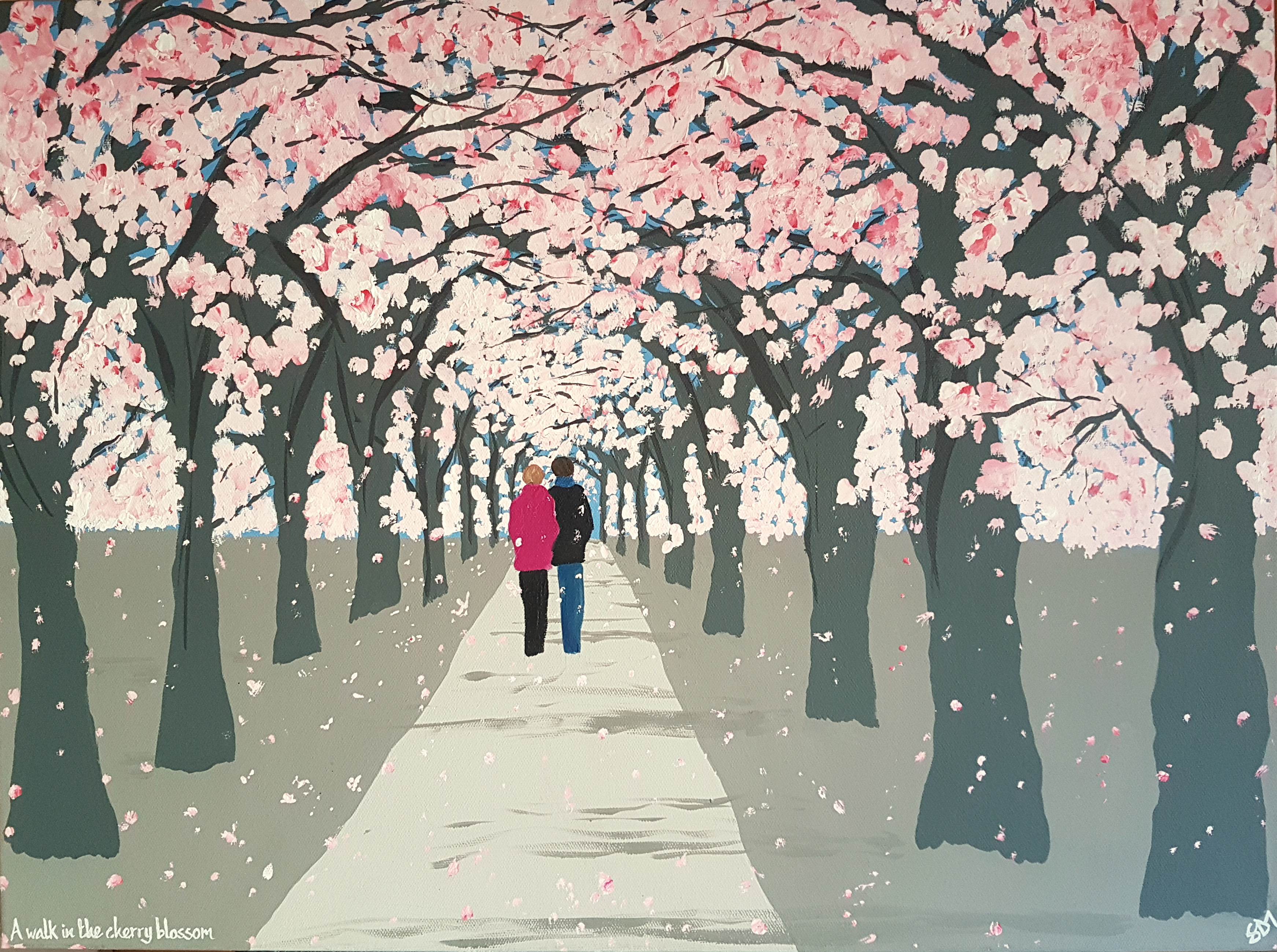 SOLD A walk in the Cherry Blossom