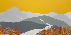 SOLD Golden light over Cat Bells