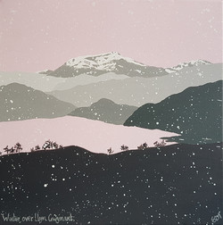 SOLD Winter over Llyn Gwynant