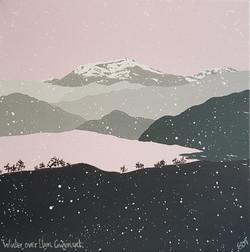 SOLD Winter over Llyn Gwynant