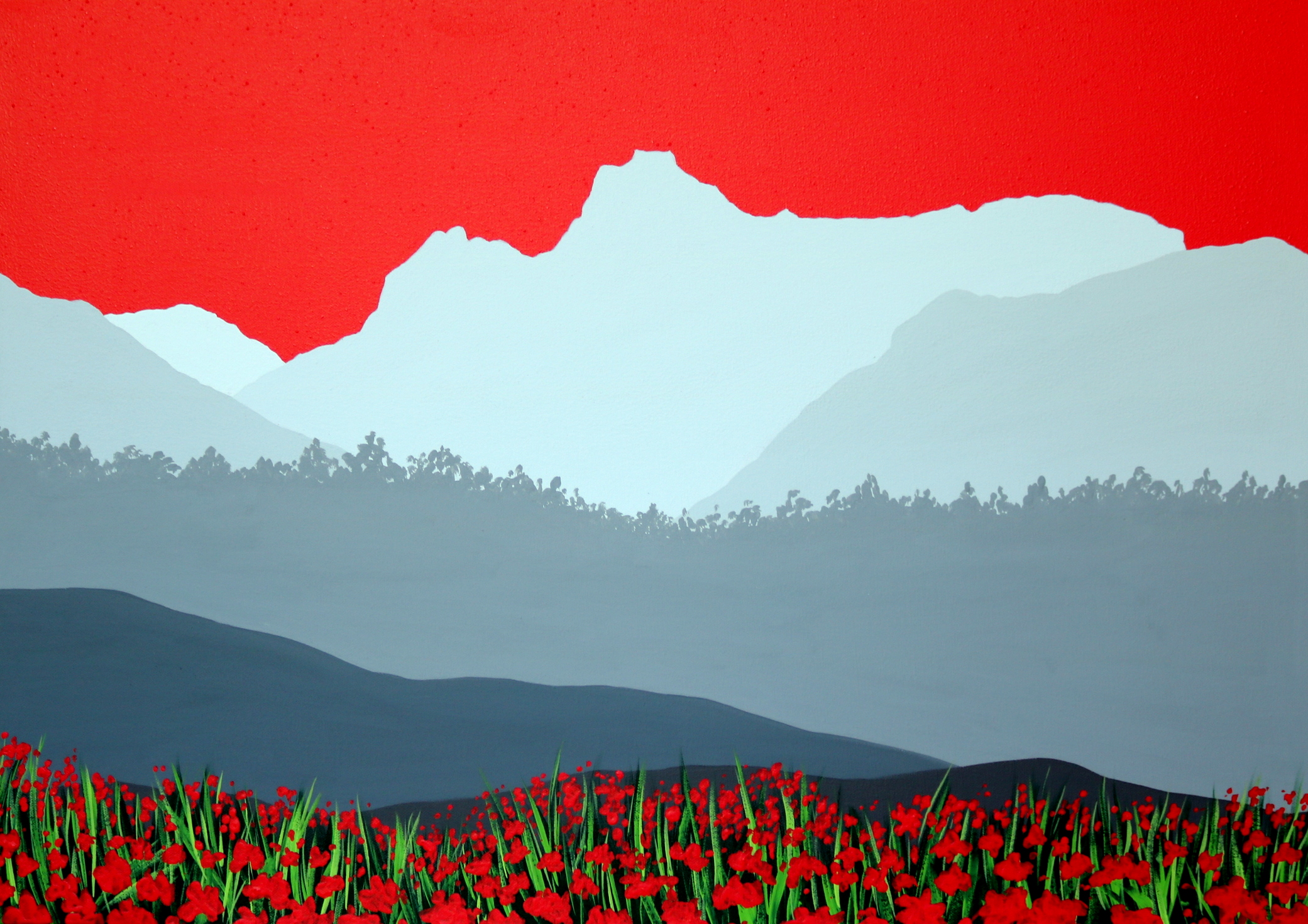SOLD Langdale Pikes in red