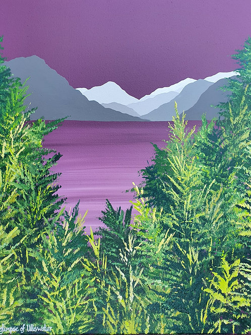 A glimpse of Ullswater greeting card