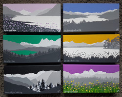 Mini original paintings