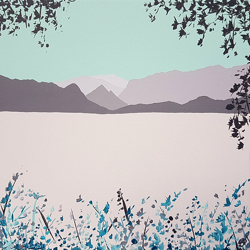 Greetings card -Winter over Derwent Water