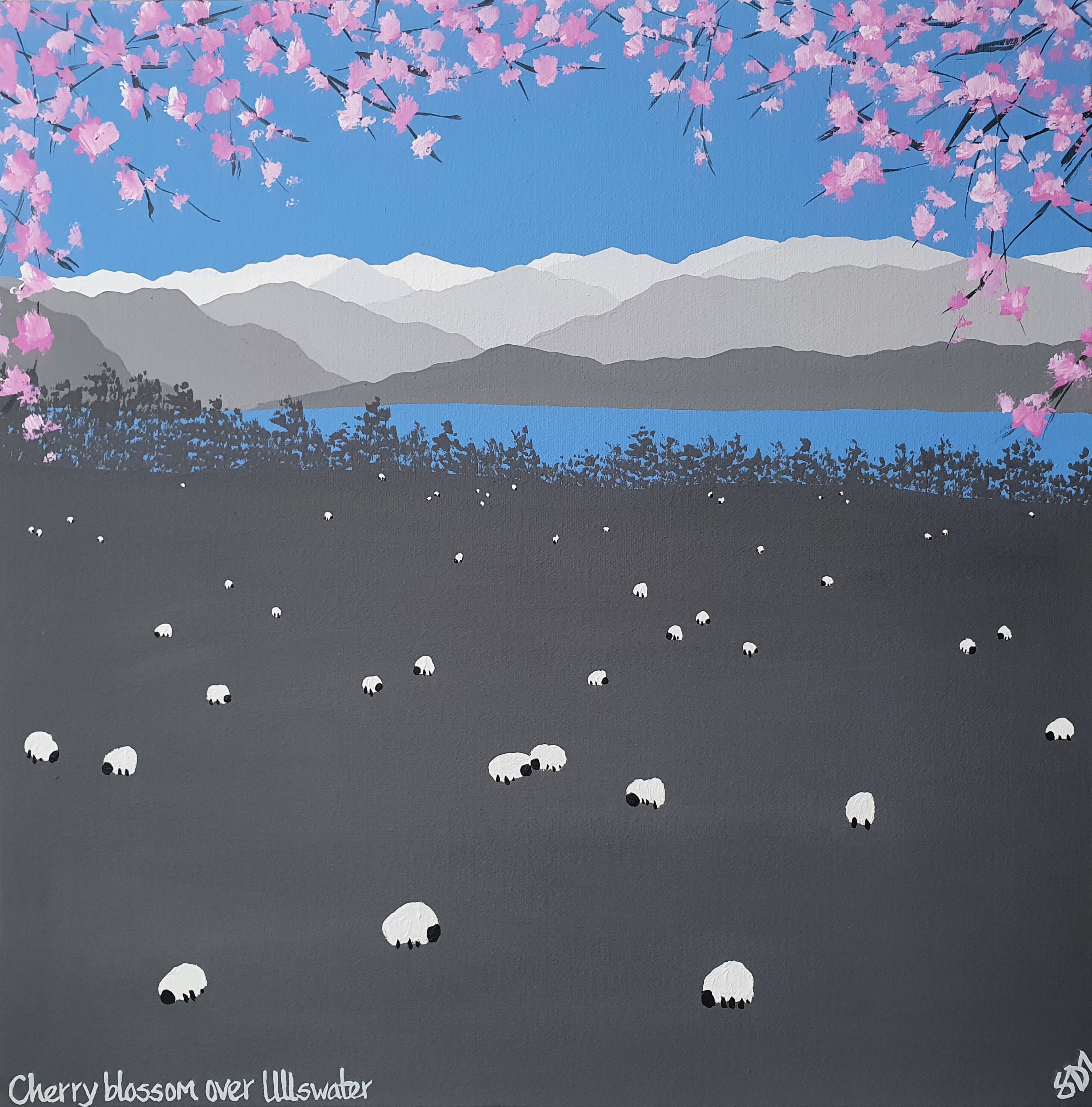 Cherry blossom over Ullswater