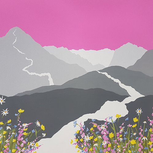 Spring time on Cat Bells greeting card