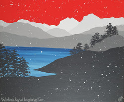 SOLD Winters day at Loughrigg Tarn