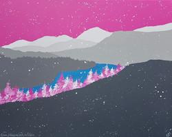 SOLD Snow falling on Loch an Eilein