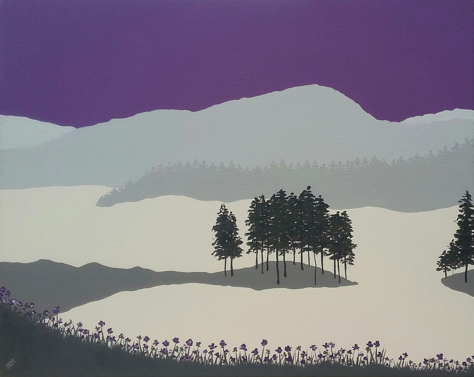 SOLD Purple Tarn Hows