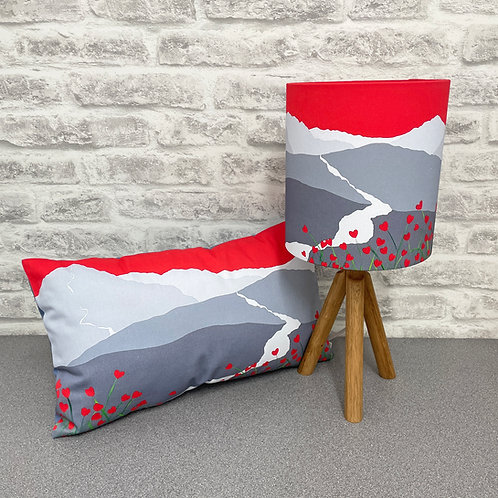 In love with Cat Bells lampshade & cushion bundle