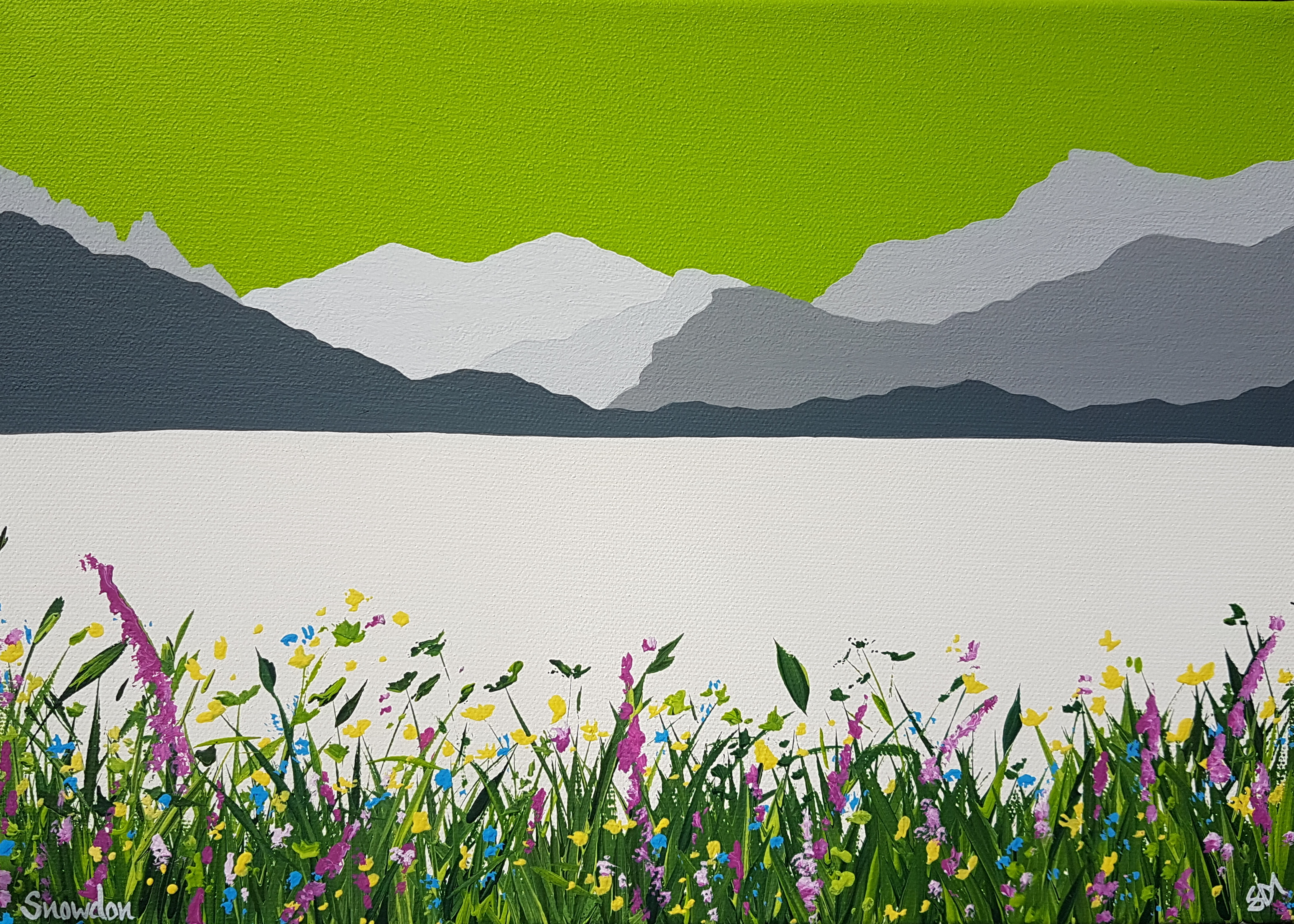 SOLD Snowdon from Llyn Nantlle