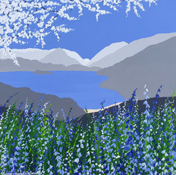SOLD Blossom & Bluebells in Grasmere