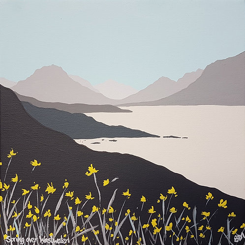 Greetings Card - Spring over Wast Water