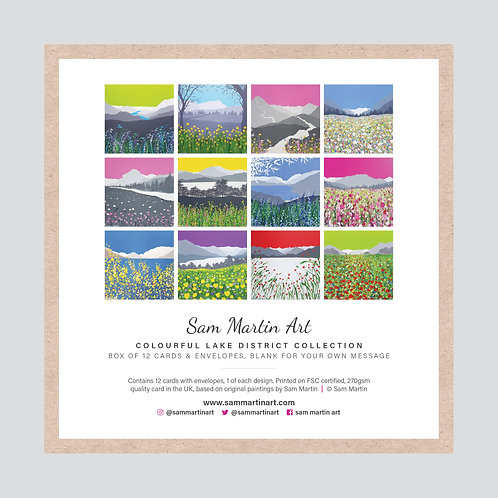 Colourful Lake District Card Collection