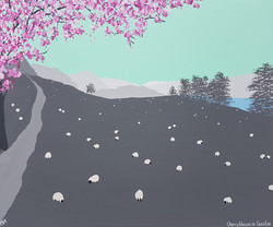 SOLD Cherry blossom in Coniston