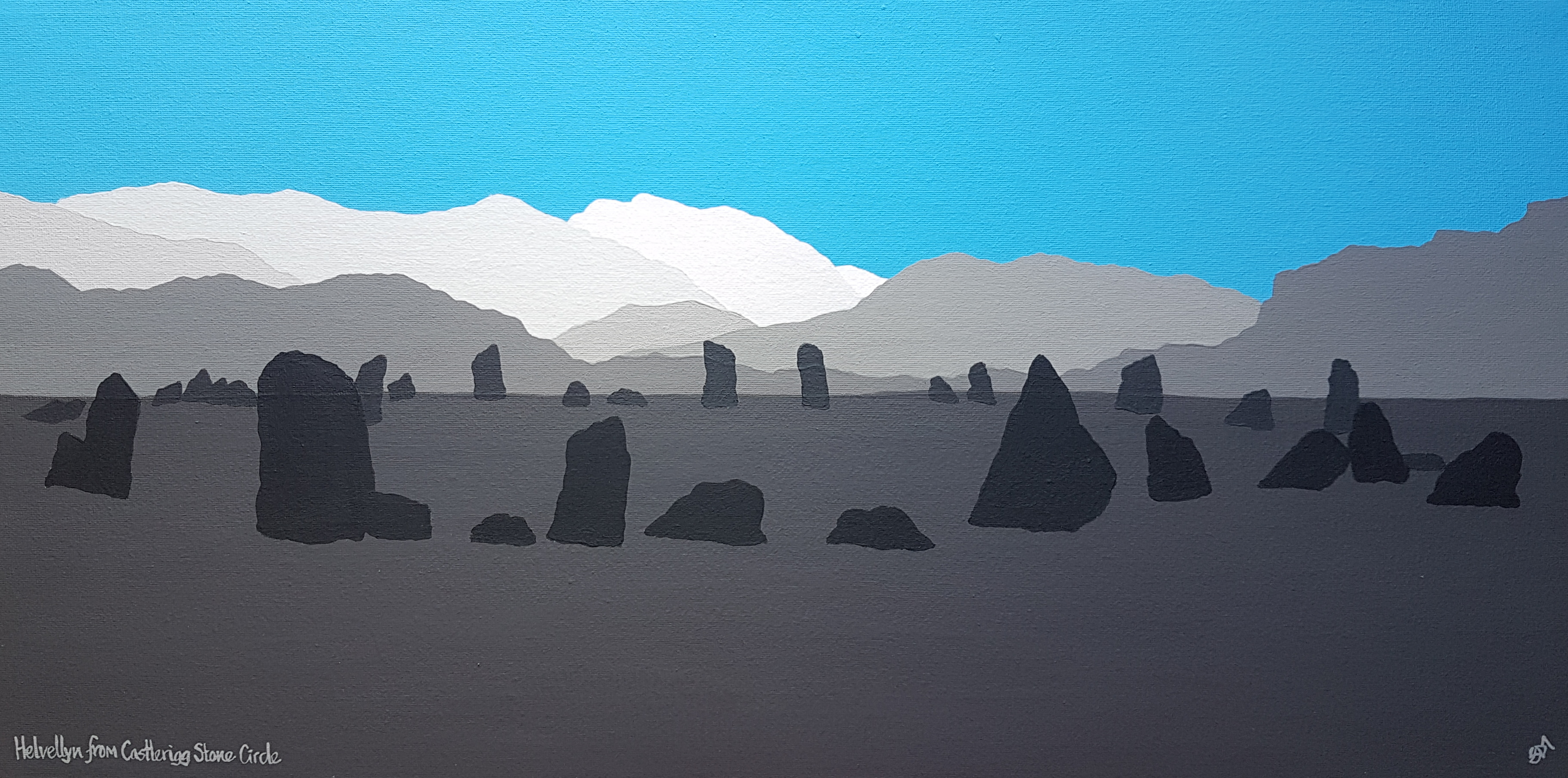 SOLD Helvellyn from Castlerigg