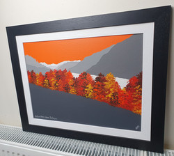 SOLD Autumn trees above Thirlmere