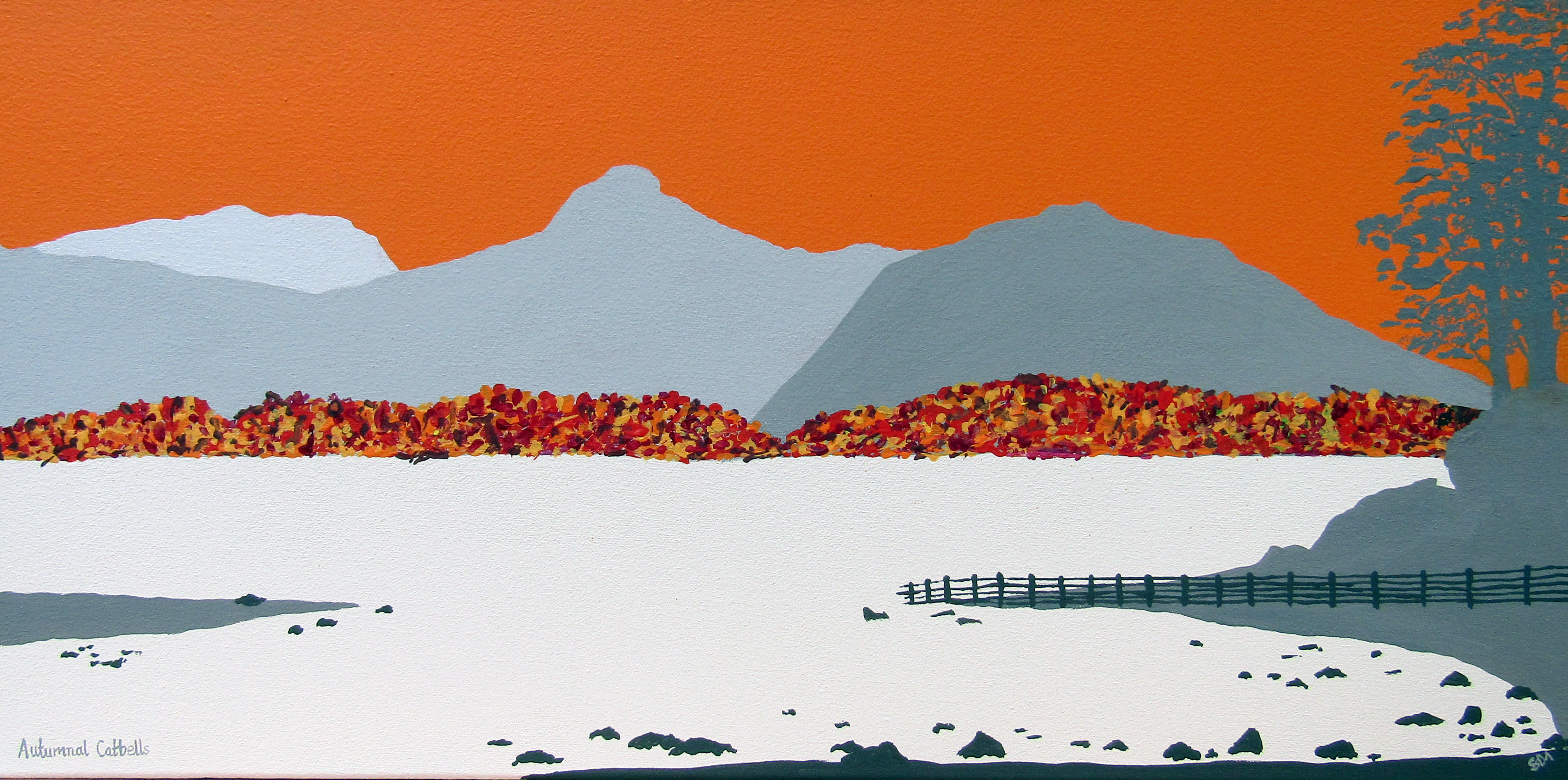 SOLD Autumnal Catbells