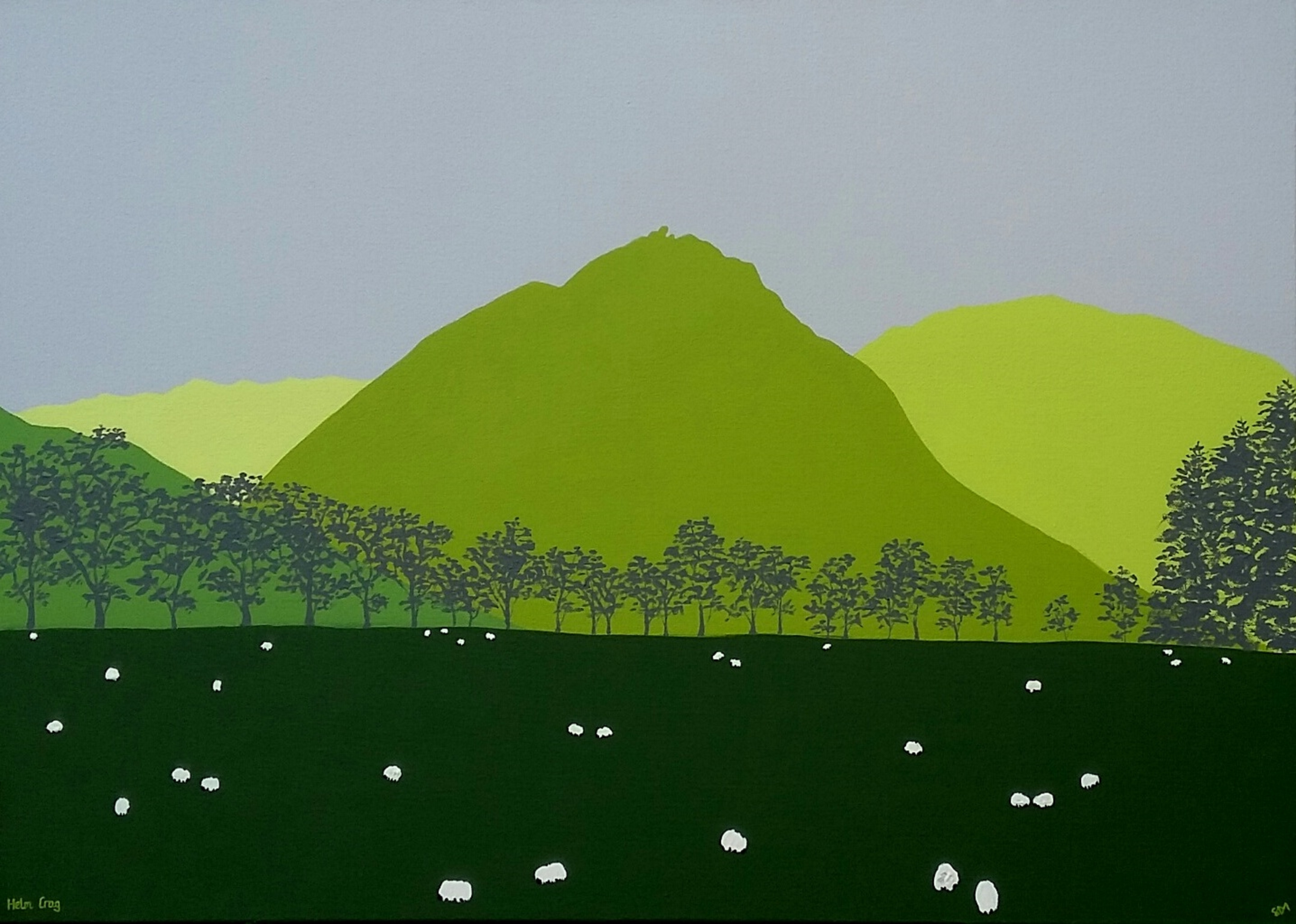 SOLD Helm Crag in Green