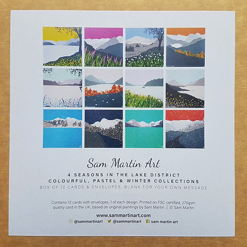 4 Seasons in The Lake District Collection (12 cards)