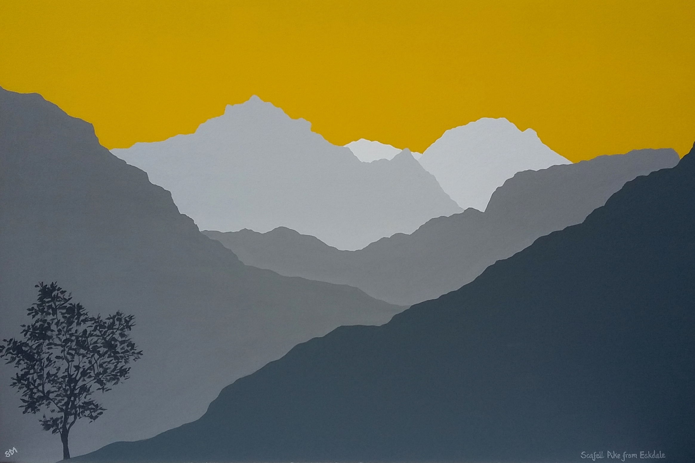 SOLD Scafell Pike from Eskdale