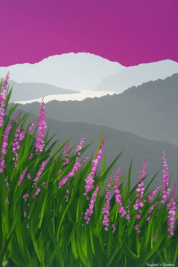 SOLD Foxgloves in Grasmere
