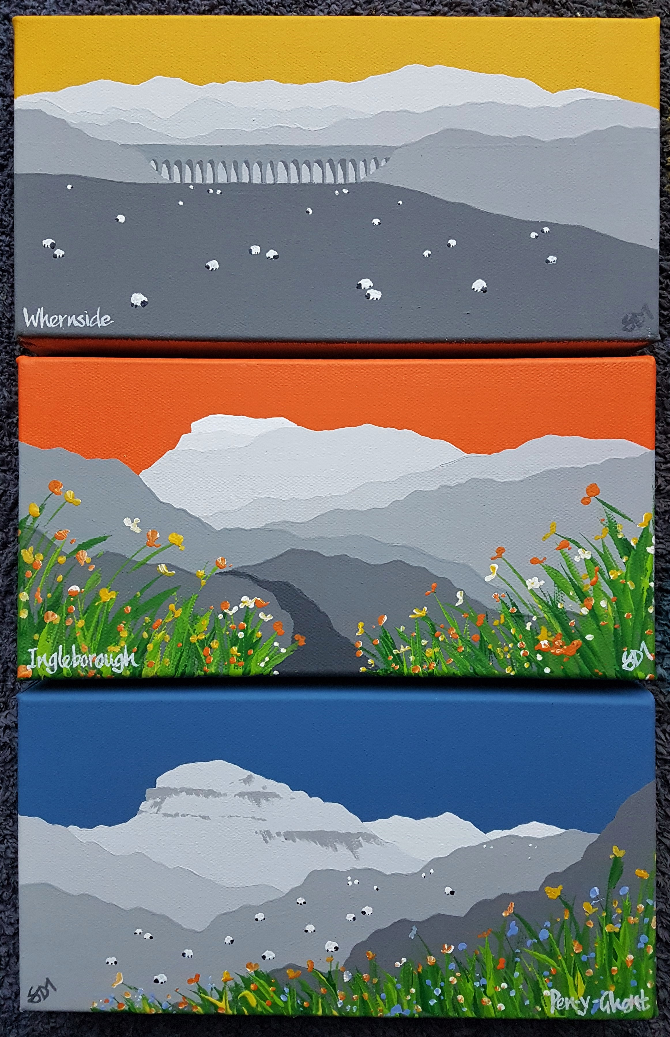 SOLD Yorkshire 3 peaks set