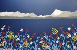 SOLD Wild flowers beside Derwent Water