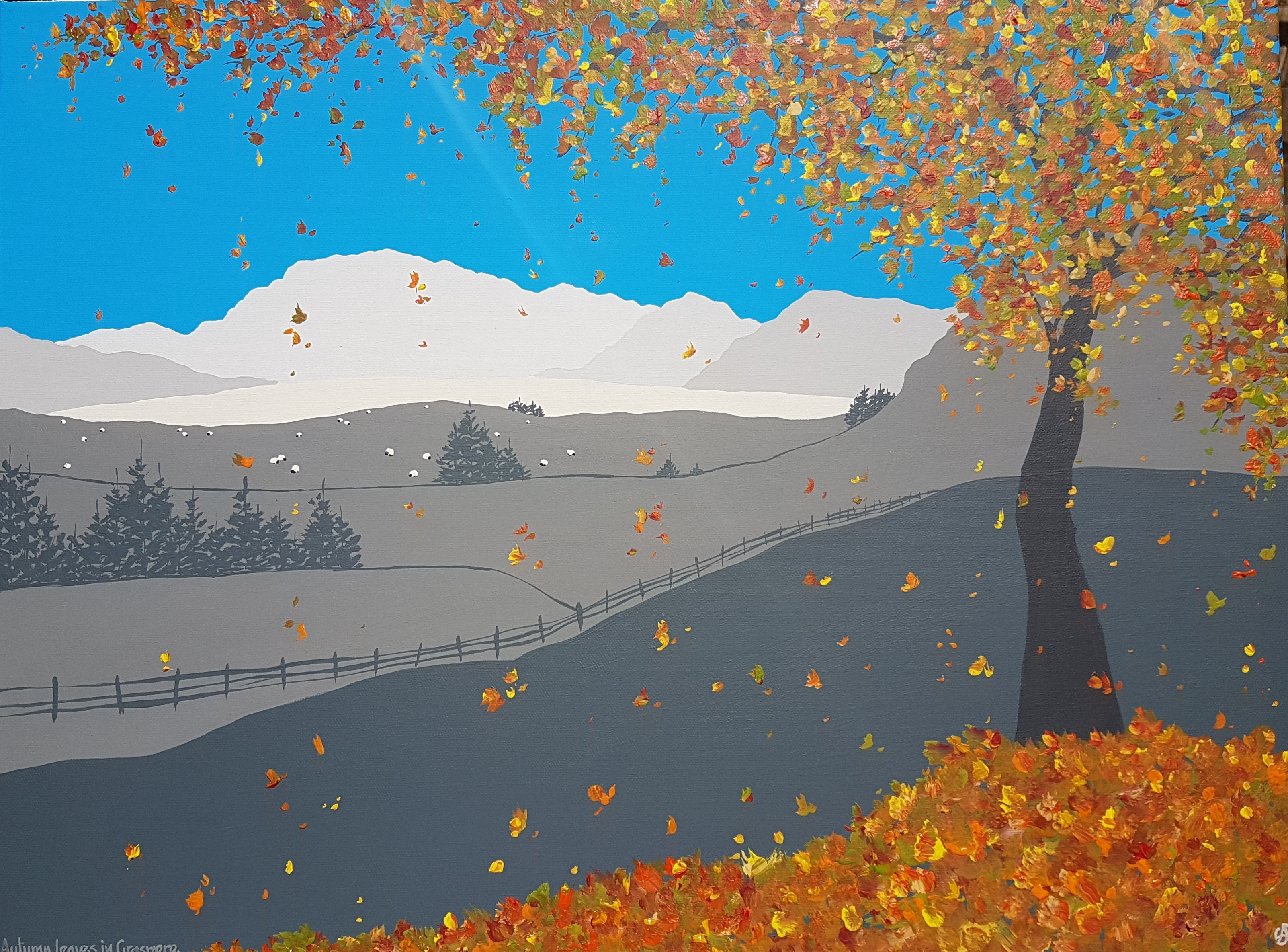 SOLD Autumn leaves in Grasmere