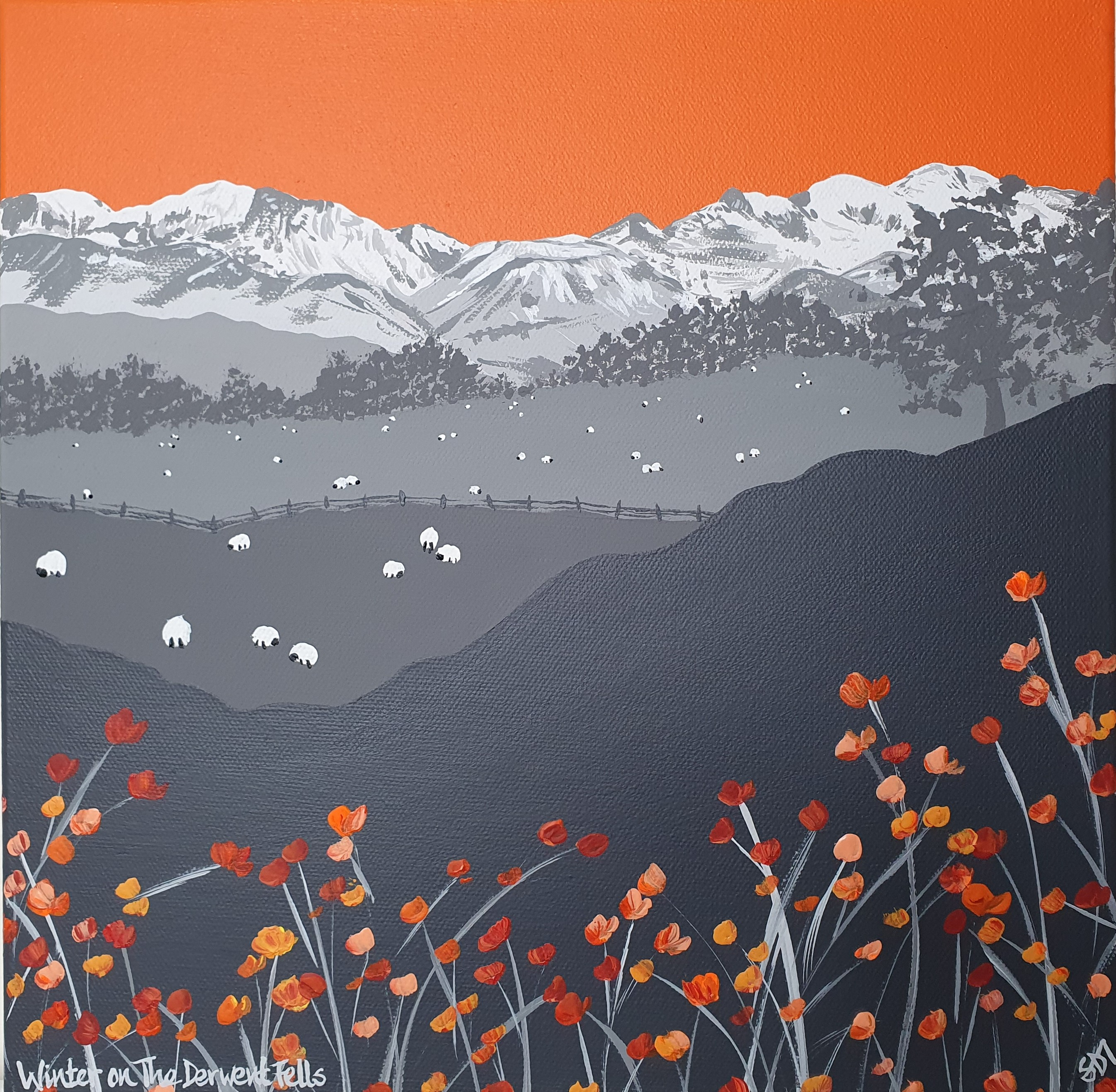 SOLD Winter on The Derwent Fells