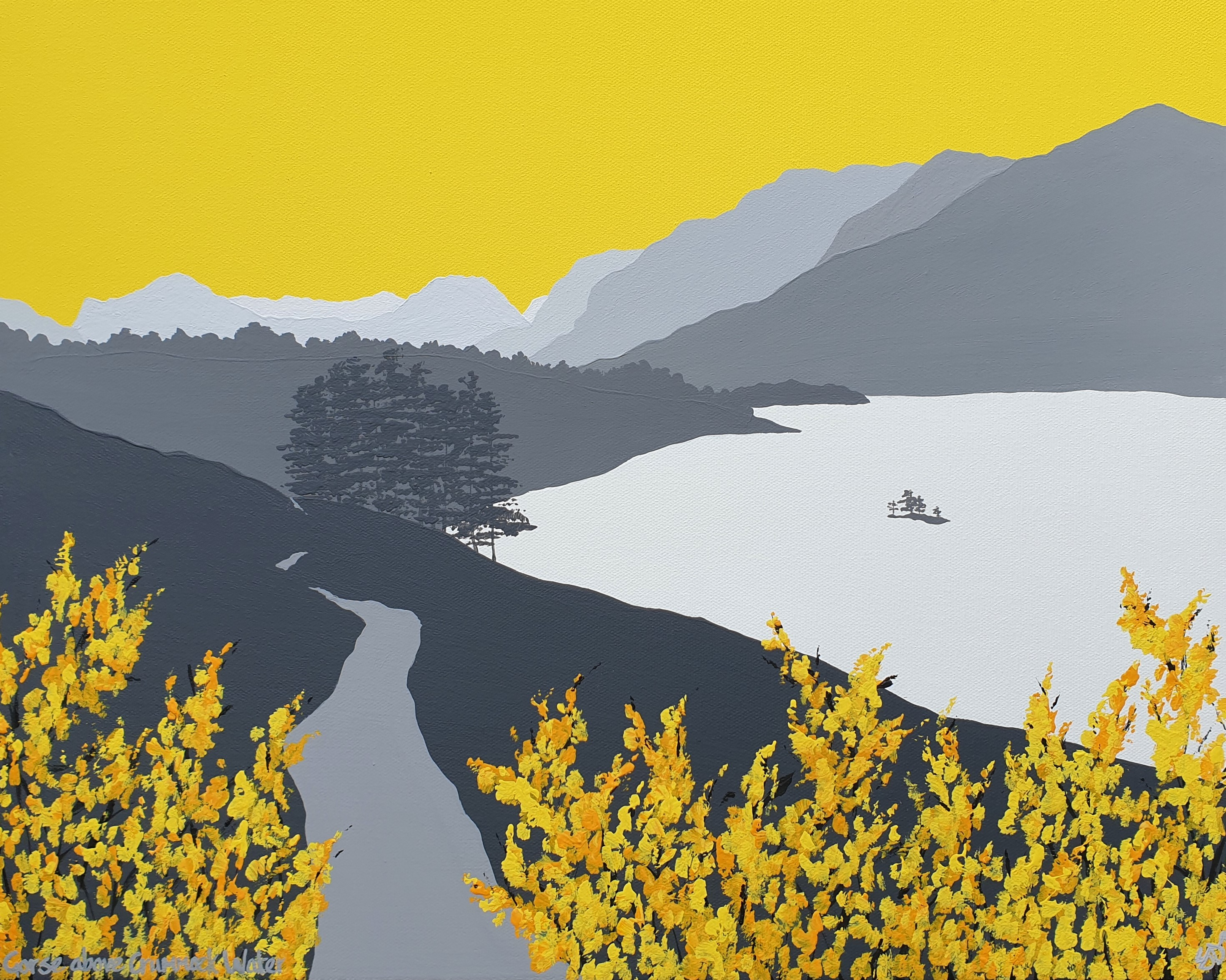 SOLD Gorse above Crummock Water