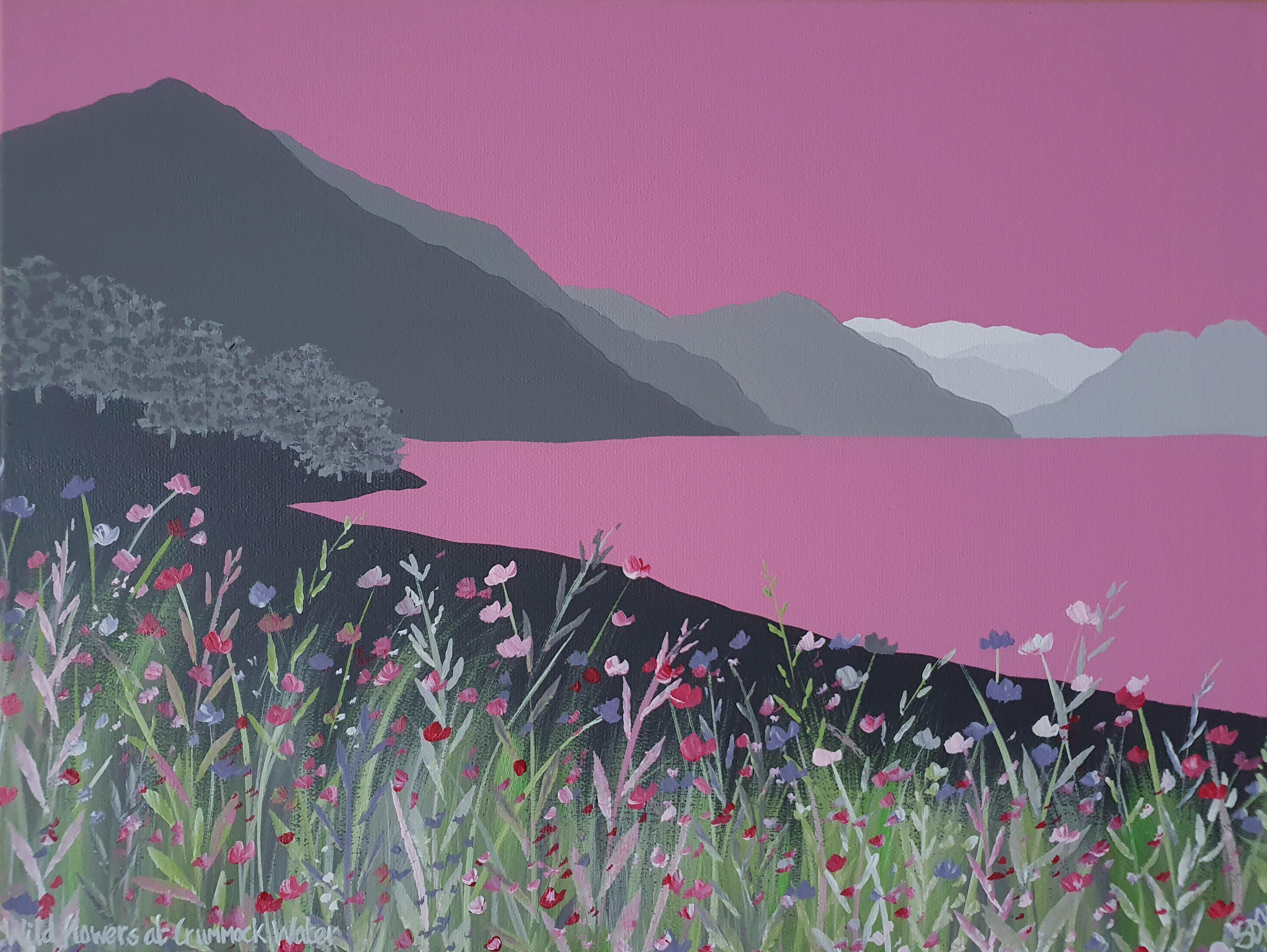 SOLD Wild flowers at Crummock Water