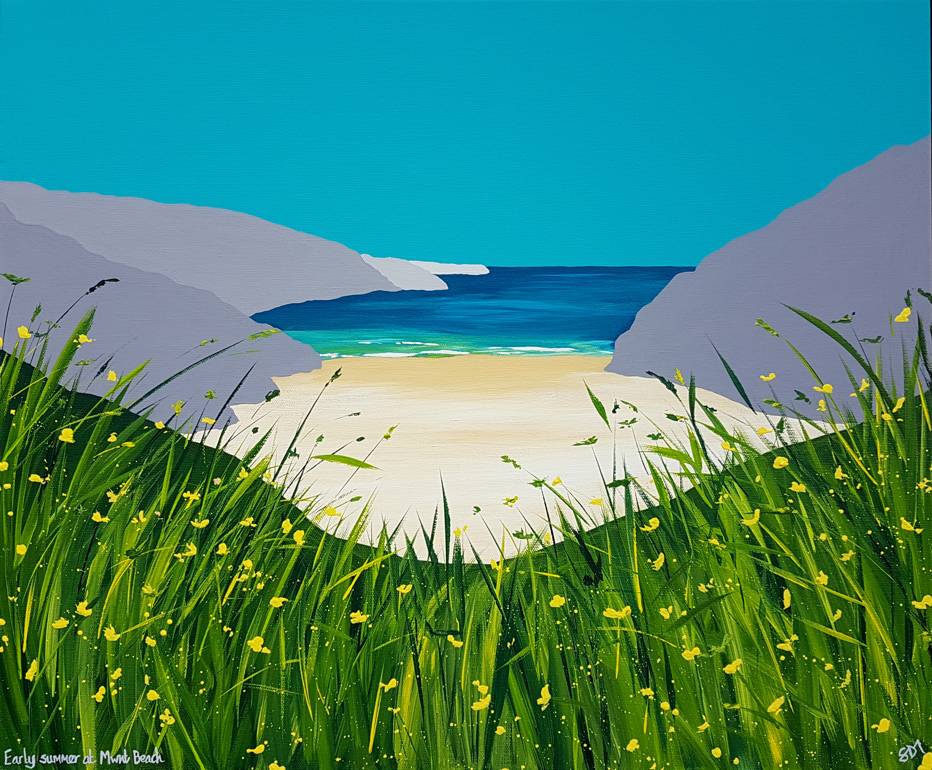 SOLD Early summer at Mwnt Beach