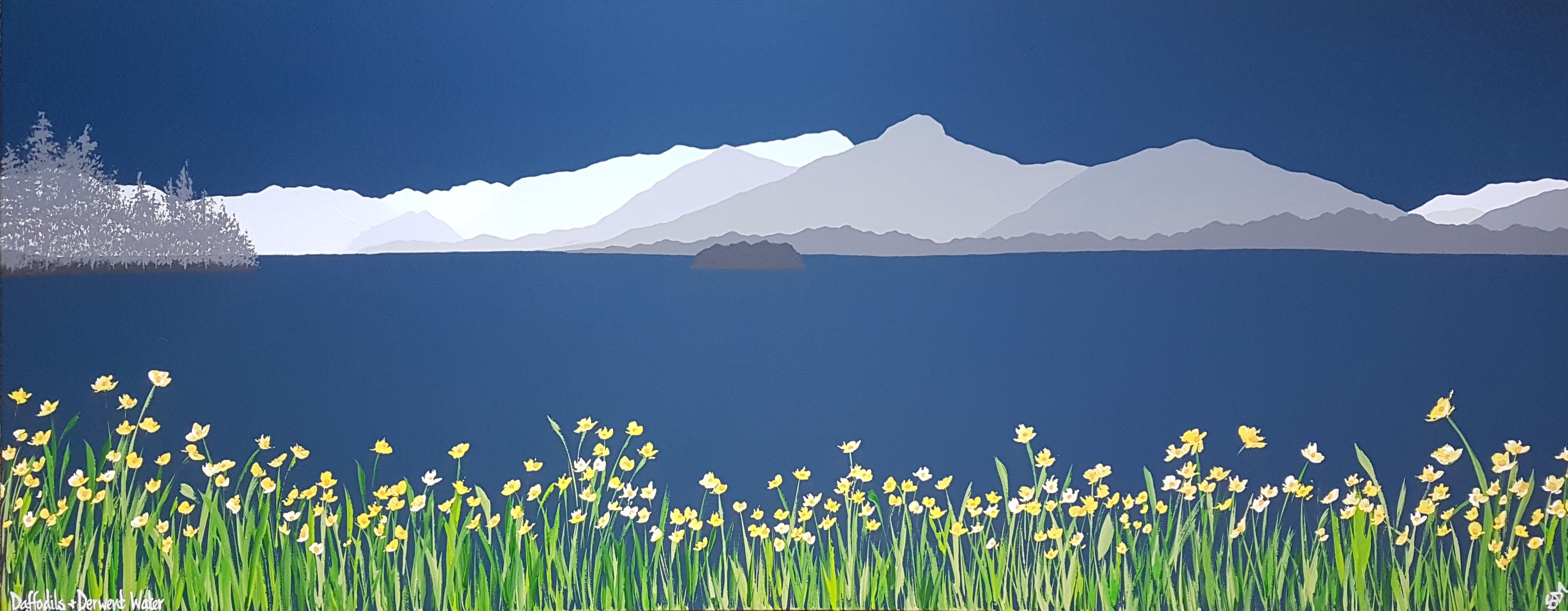 SOLD Daffodils and Derwent Water