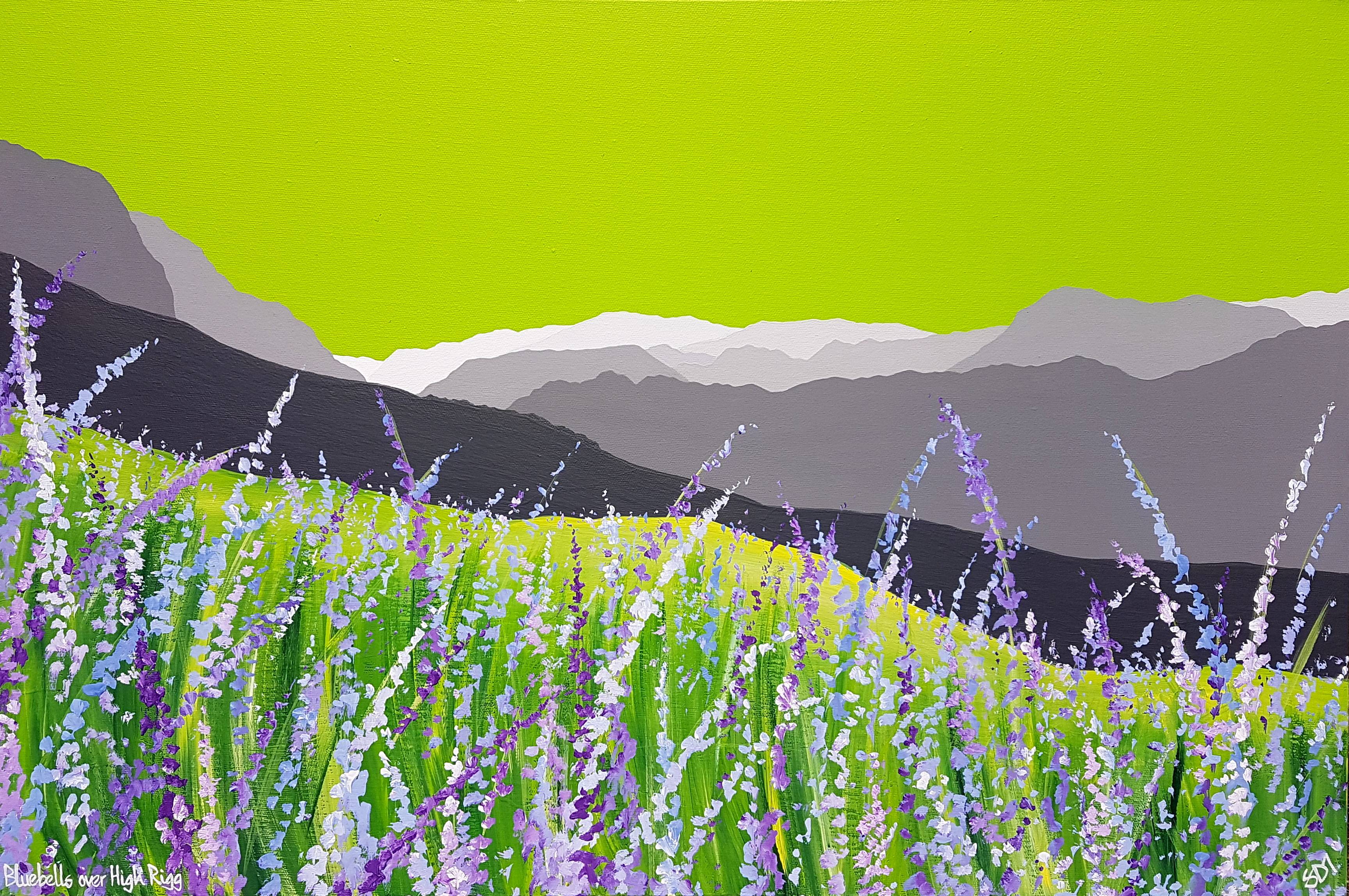 SOLD Bluebells over High Rigg